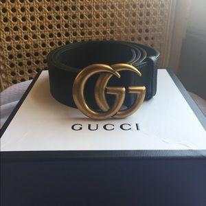 e6cafbb8393 Gucci Accessories - Black Leather Gucci Belt. 110 cm